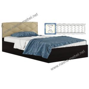 Кровать Виктория-П 1200 венге_ с матрасом