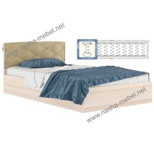 Кровать Виктория-П 1200 дуб_с матрасом