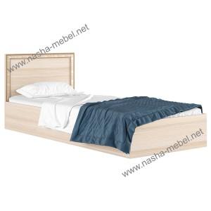 Кровать Виктория-Б 800 дуб молочный