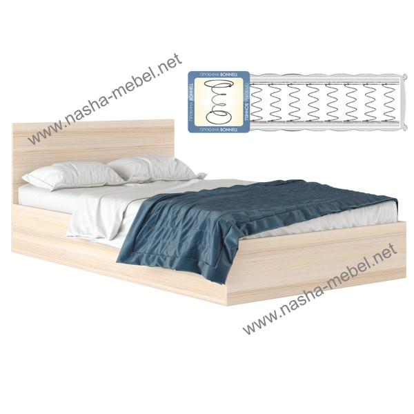Кровать Виктория 1200 дуб с матрасом