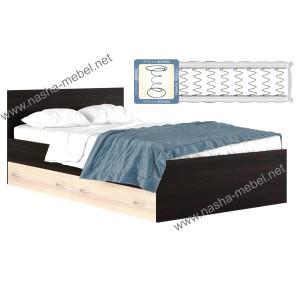 Кровать Виктория 1200 с ящиком с матрасом