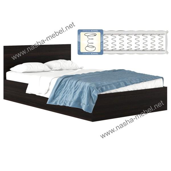 Кровать Виктория 1200 венге с матрасом