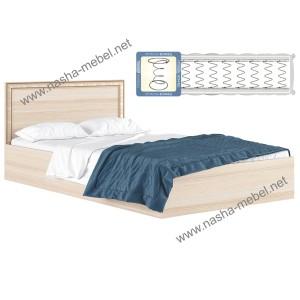 Кровать Виктория-Б 1200 дуб с матрасом