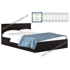Кровать Виктория 1400 венге с матрасом