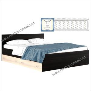 Кровать Виктория 1600 с ящиком и матрасом