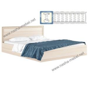 Кровать Виктория-Б 1600 дуб с матрасом