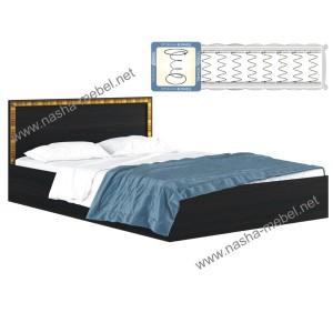 Кровать Виктория-Б 1600 венге с матрасом