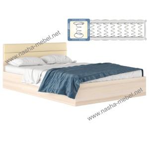 Кровать Виктория-М 1600 дуб с матрасом