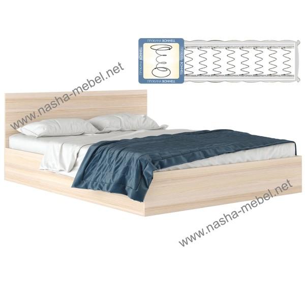 Кровать Виктория 1800 дуб с матрасом