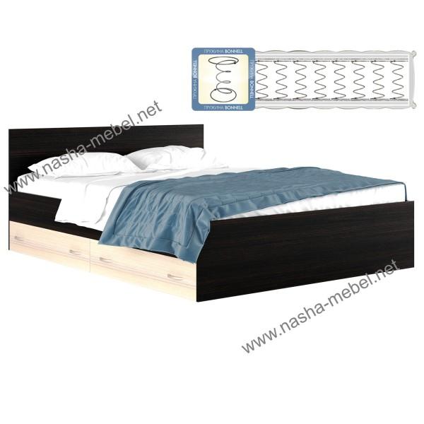 Кровать Виктория 1800 с ящиком и матрасом