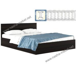 Кровать Виктория 1800 венге с матрасом