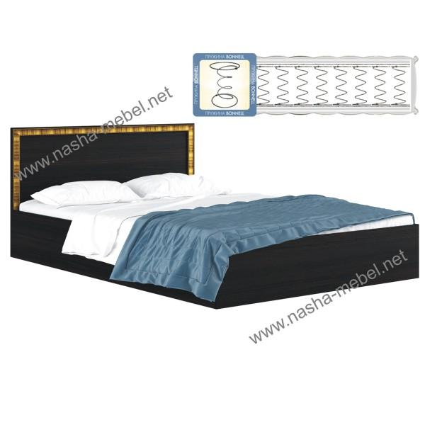 Кровать Виктория-Б венге 1800 с матрасом