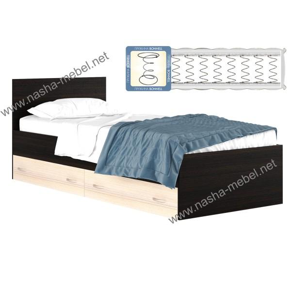 Кровать Виктория 90 с ящиком и матрасом
