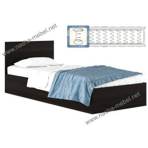 Кровать Виктория 900 венге с матрасом