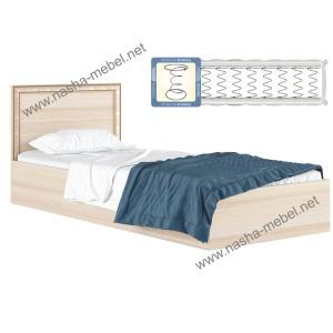 Кровать Виктория-Б 900 дуб с матрасом