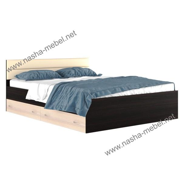 Кровать Виктория-МВ 1600 с ящиками