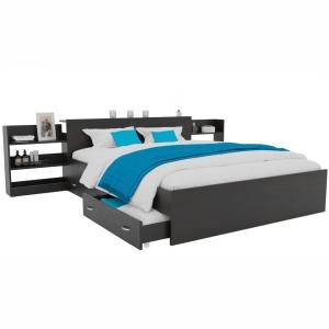 Кровать Доминика с выдвижным блоком венге 140 с ящиками
